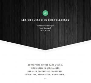 Aperçu du site Les menuiseries chapelloises