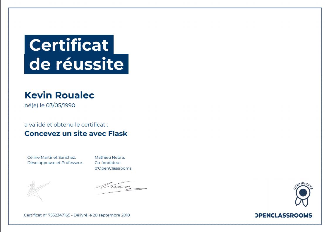 Certificat Openclassrooms - Concevez un site avec Flask