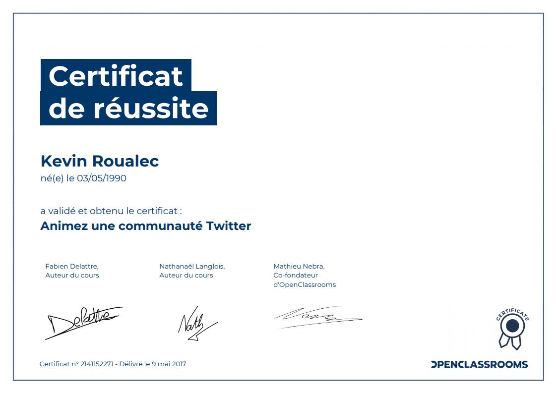 Certificat Openclassrooms - Animez une communauté Twitter