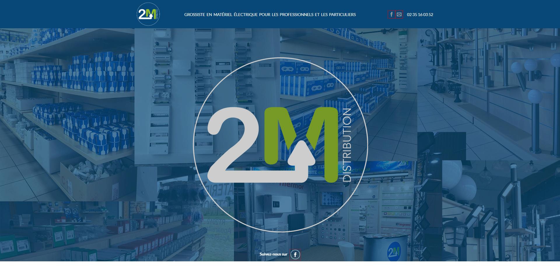 Aperçu du site web 2mdistribution.fr