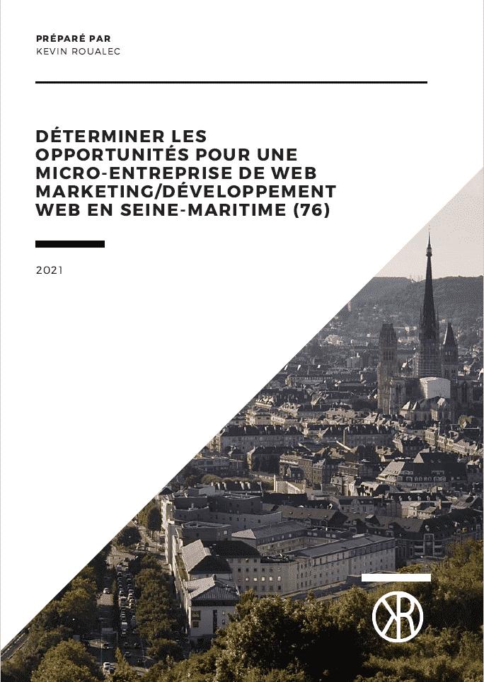 étude de marché - Déterminer les opportunités pour une micro-entreprise de web marketing/développement web en Seine-Maritime (76)